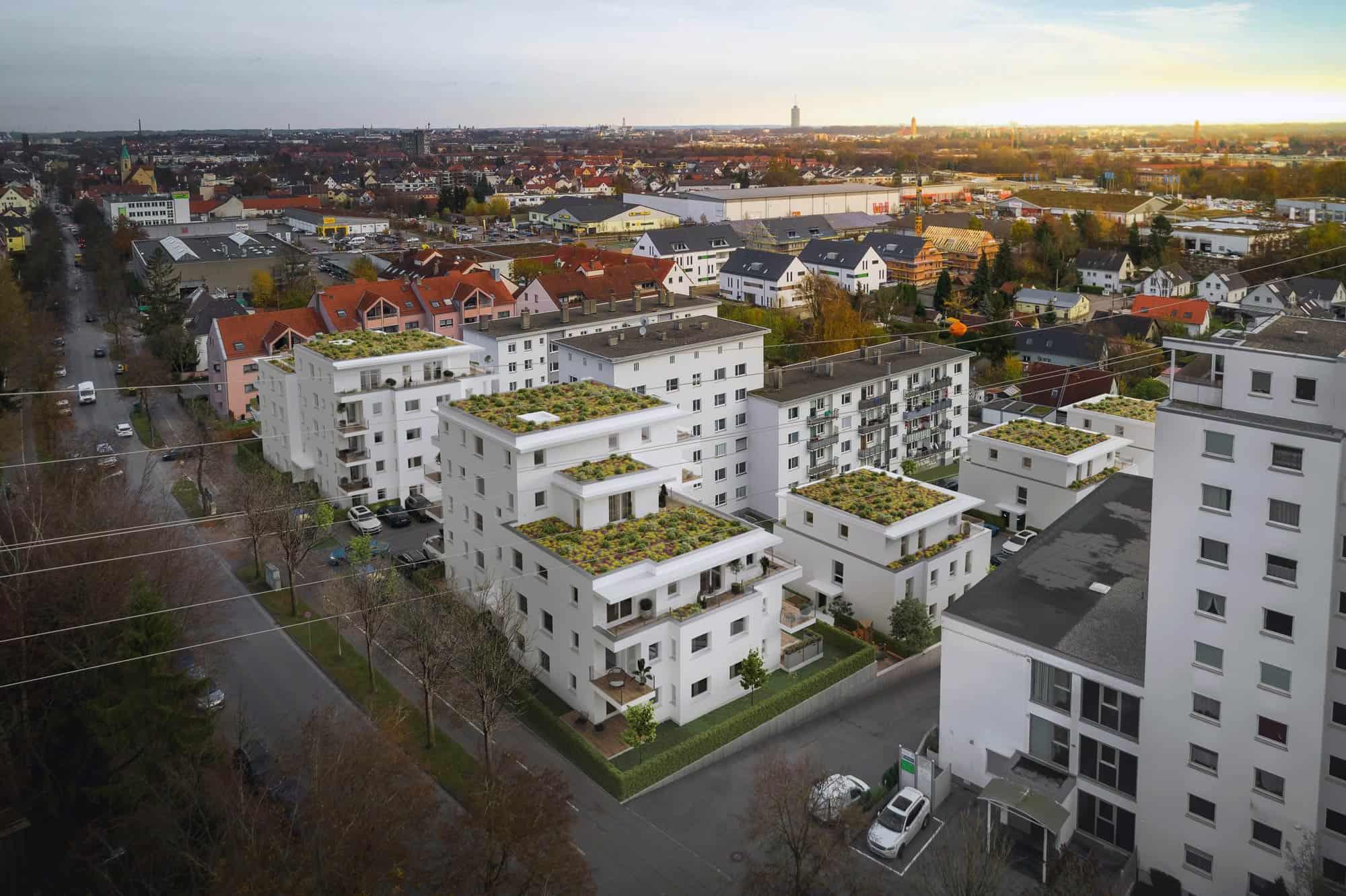 Neubau von 5 Wohngebäuden mit 57 Wohneinheiten Stadtbergen